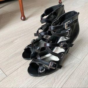 Guess Black Gladiato Heels